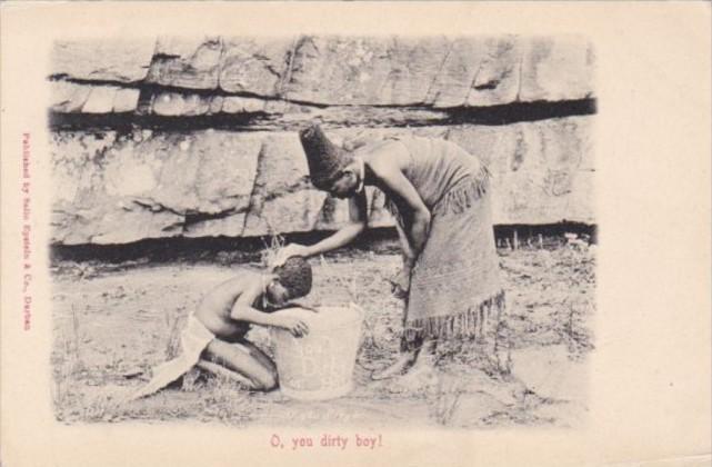 South Africa Durban Mother Bathing You Boy O you diry boy