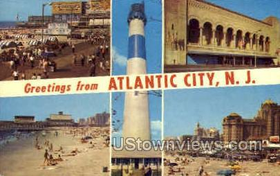 Atlantic City, New Jersey, NJ, Post Card Atlantic City NJ 1966