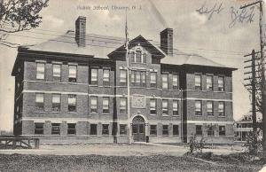 Chrome New Jersey Public School Street View Antique Postcard K41398
