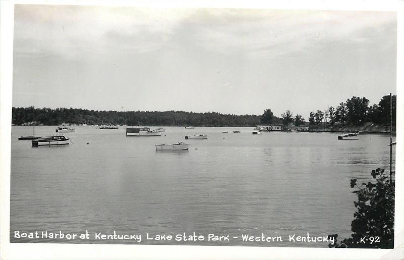 Gilbertsville? Boat Harbor @ Kentucky Lake State Park~Real Photo Postcard c1950