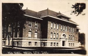 Mason City Iowa~High School Building~c1915 Kruxo RPPC-Real Photo Postcard