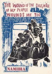 Womens Solidarity Campaign Namibia Daughters Wound SWAPO Postcard