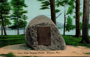 Massachusetts Abingdon Island Grove Memorial Boulder