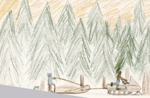 JEAN MARIE RIVER , NWT, Canada, Expo-1986 ; Child Art
