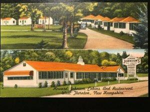 Vintage Postcard>1930-1945>Howard Johnson Cabins & Restaurant>West Thornton>N.H.