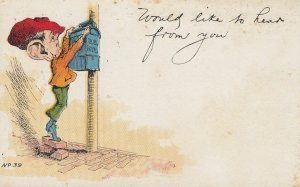 Man mailing a letter , 1900-10s