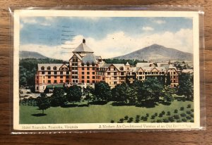Virginia VA Hotel Roanoke Postcard Old Vintage Card View Standard Souvenir