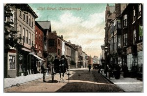 KNARESBOROUGH England ~ High Street View Harrogate Horse Buggy Postcard