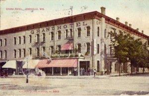 GRAND HOTEL JANESVILLE, WI 1910