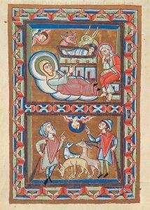 Geburt Christi und Verkundigung an die Hirten biblical scenes Postkarte