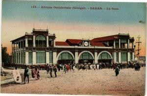 CPA AK Senegal Fortier 144. Afrique Occidentale-Dakar-La Gare (235256)