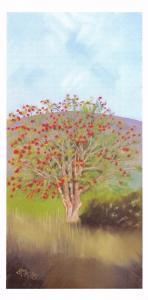 Art Postcard ROWAN Tree Sorbus Aucuparia by S.M Kinread