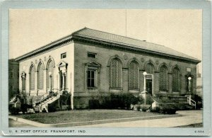 1939 Frankfort, Indiana Postcard U.S. POST OFFICE Building View Wayne Paper