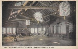 LAKE GENEVA, Wisconsin, 1921; Recreation Hall, Eleanor Camp