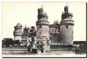 Old Postcard Chateau de Pierrefonds L'Entree