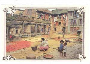 The Multi purpose Newari Courtyard , NEPAL , 70-80s