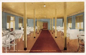 Interior Receiving Ward, Fitzsimmons General Army Hospital, Postcard, Unused