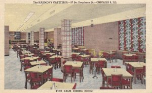 Pine Palm Dining Room Harmony Cafeteria Chicago Illinois Curteich sk31