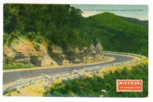 Mount Vernon, Missouri to Wellington, Kansas used 1947 Postcard, Ozarks