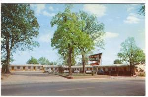Mountain Home AR Mountain Home Motel Old Cars Postcard