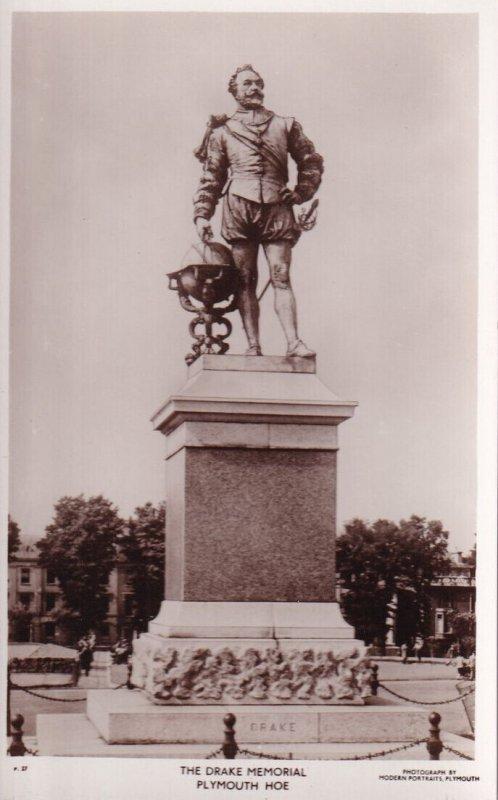 RP; PLYMOUTH, Devon, England, 1920-1940s; The Drake Memorial Plymouth Hoe