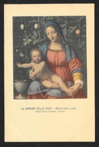 The Virgin with Roses Luini Unused c1920s