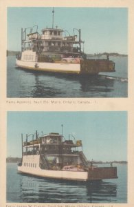 Ferry Boats , SAULT STE MARIE , Ontario , Canada , 1930s