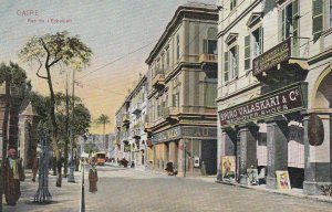 CAIRO , Egypt , 1900-1910s ; Rue de l'Ezbekieh