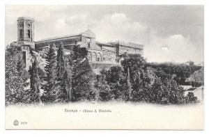 Italy Firenze Chiese San Miniato Church Basilica Vintage Florence Postcard