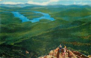 Lake Placid New York~Folks Look At View From Whiteface Mt Summit 1950s-1970s