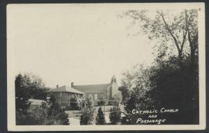 Catholic Church Parsonage Real Photo RPPC Postcard