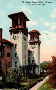 Florida St Augustine Hotel Alcazar The Front Towers 1916 Curteich