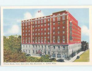 Unused 1930's HOTEL SCENE St. John New Brunswick NB B2002