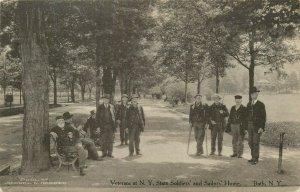Veterans Bath NY State Soldiers Sailors Postcard Vintage Unstamped Unused