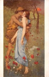 Lovers, Couple Kiss, Sunset, An Idyll (Greiffenhagen) Walker Art Gallery