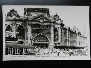 Australia: MELBOURNE Flinders Street Railway Station Old RP PC