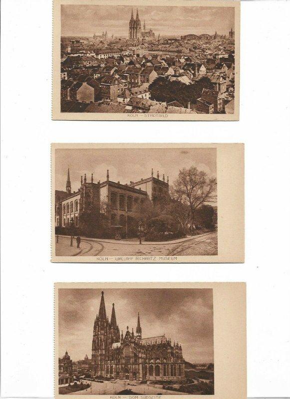 Germany Köln Cologne Postcard Lot of 6 01.07
