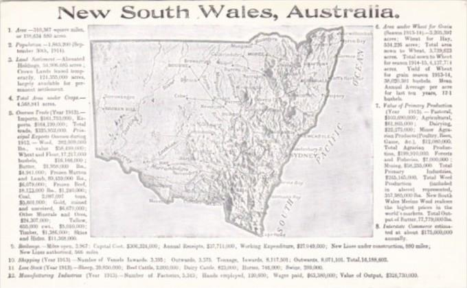 Australia Map Of New South Wales