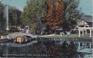 Homes along Clark's Pond - East Avenue, Rochester, New York - pm 1913