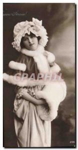 Old Postcard Fantaisie Fur