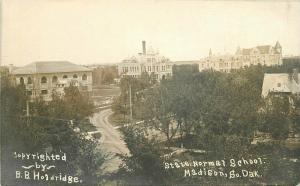 C-1910 State Normal School Madison South Dakota RPPC Postcard Holdridge 4667
