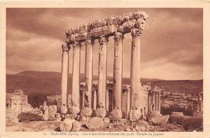 B5933 Liban Lebanon Baalbek Les 6 derniers colonnes des 54 du Temple de Jupiter