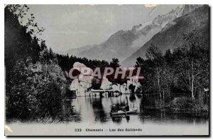 Old Postcard Chamonix Lake Gaillands