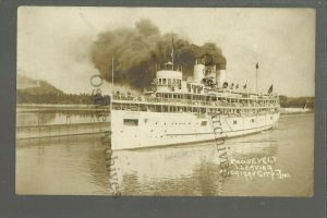 Michigan City INDIANA RP 1910 S.S. ROOSEVELT Steamer STEAMSHIP Lake Michigan