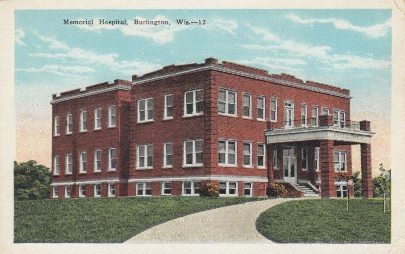 BURLINGTON , Wisconsin , 1900-10s ; Memorial Hospital