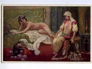 245024 Serail HAREM NUDE SLAVE Monkey by Norim PASCHA Vintage