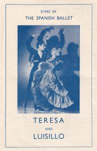 Luis Davila Teresa and Luisillo Spanish Ballet Old Rare Theatre Programme