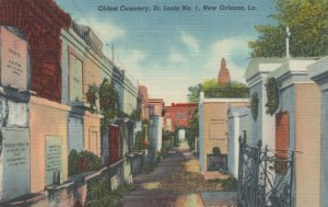 NEW ORLEANS, Louisiana, 30-40s; Oldest Cemetery, St. Louis No. 1