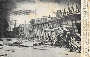 San Francisco California 1906 Disaster Postcard Ruins Valencia Hotel Earthquake