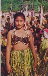 Samoa Young Girl In Traditional Costume